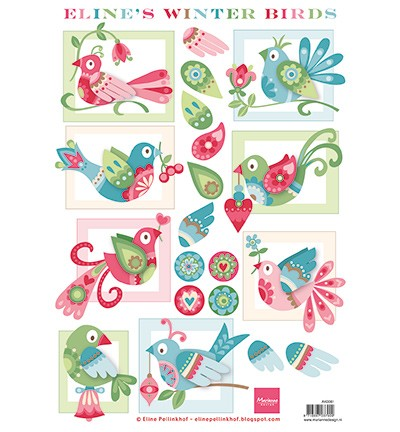 Marianne Design - 3D Knipvel - Eline`s Winter Birds