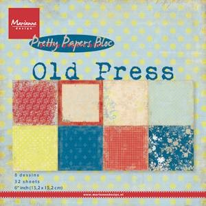 Marianne Design - Pretty Papers Bloc - Old Press