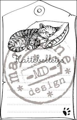Marianne Design - Clear Stamp - Kattebelletje