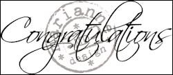Marianne Design - Clear Stamp - Congratulations