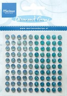 Marianne Design - Gems - Light Blue & Blue
