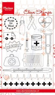 Marianne Design - Clear Stamp - Medical set