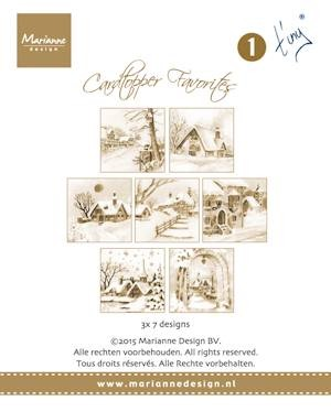 Marianne Design - Card toppers sepia -Favourites Tiny