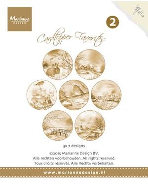 Marianne Design - Card toppers sepia -Favourites Mattie