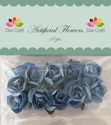 Dixi artificial Flowers rozen blauw
