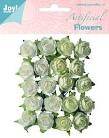 Joy! artificial flowers wit/creme