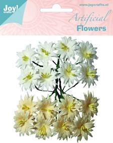 Joy artificial flowers wit/creme