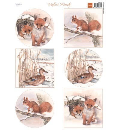 Marianne Design - Knipvel - Mattie`s winter animals - foxes