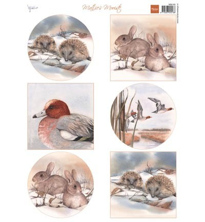 Marianne Design - Knipvel - Mattie`s winter animals - hedgehogs