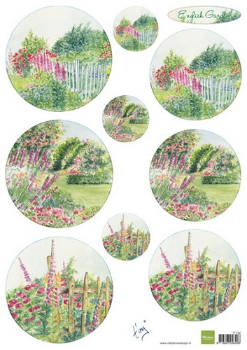 Marianne Design - Knipvel - Tiny`s english garden roses