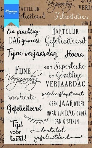 Marianne Design - Clear stamp - Felicitaties