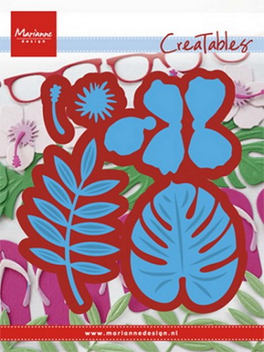 Marianne Design - Creatables - Hibiscus & Tropical leaves