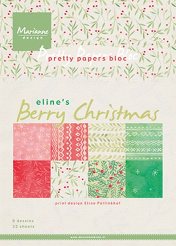 Marianne Design - Pretty Papers Bloc - Berry Christmas