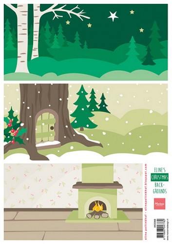 Marianne Design - Knipvel - Eline`s Christmas backgrounds