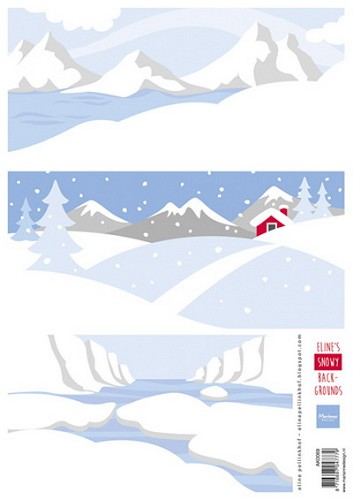 Marianne Design - Knipvel - Eline`s Snowy backgrounds