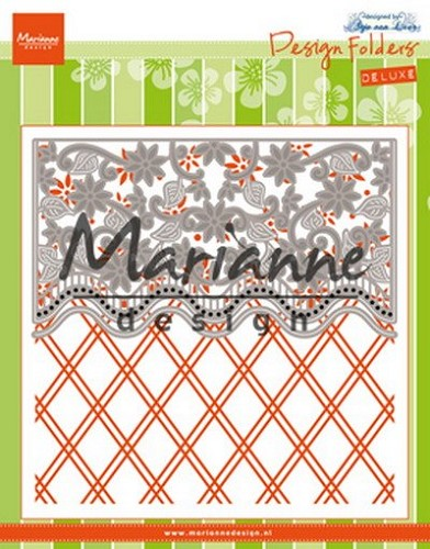 Marianne Design - Design folder - De luxe Anja`s flower border