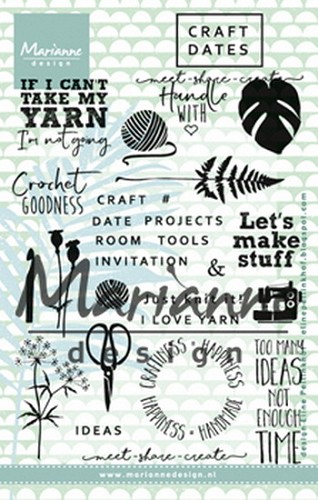 Marianne Design - Clear stamp - Craft dates 1