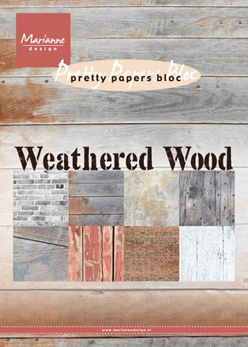 Marianne Design - Pretty Papers Bloc - Weathered wood