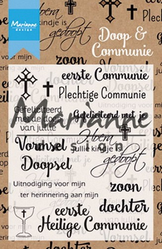 Marianne Design - Clear stamp - Doop en Communie
