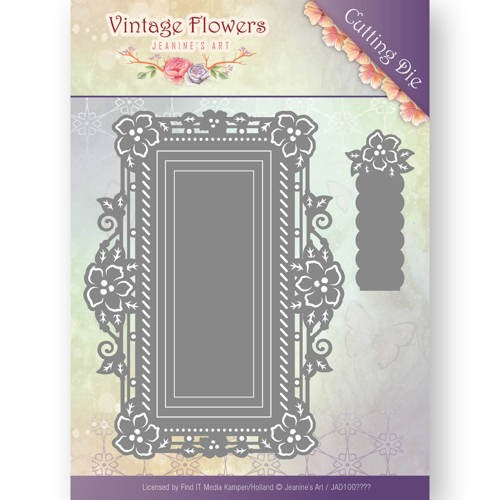 Jeanine`s Art - Dies - Vintage Flowers - Floral rectangle