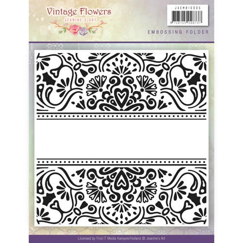 Jeanine`s Art - Embossing folder - Vintage Flowers