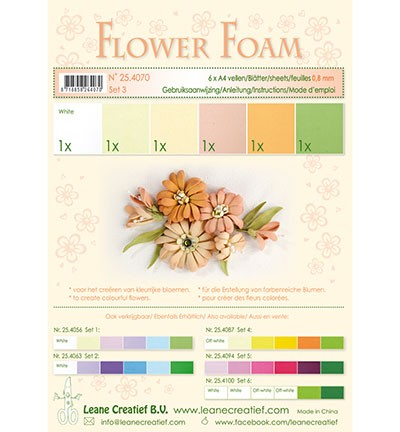 Flower foam - assortment - Set 3 - Salmon colours