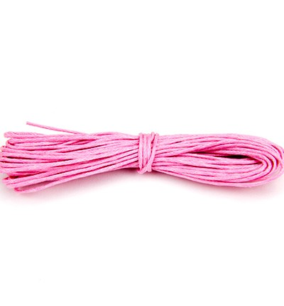 Waxed Cotton Cord - Pink