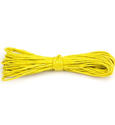 Waxed Cotton Cord - Yellow