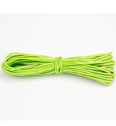 Waxed Cotton Cord - Neon Green