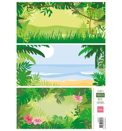Marianne Design - Knipvel - Eline`s tropical bachgrounds