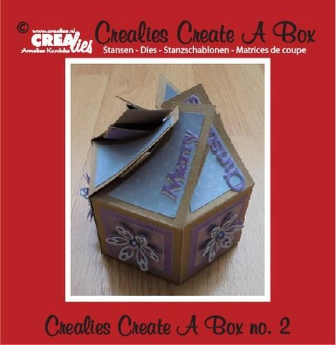 Crealies - Create a Box - No.2 6 kantig doosje