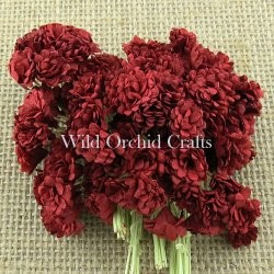 Mulberry paper - Gypsophila - Deep Red