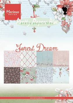 Marianne Design - Pretty papers bloc - Forest dream