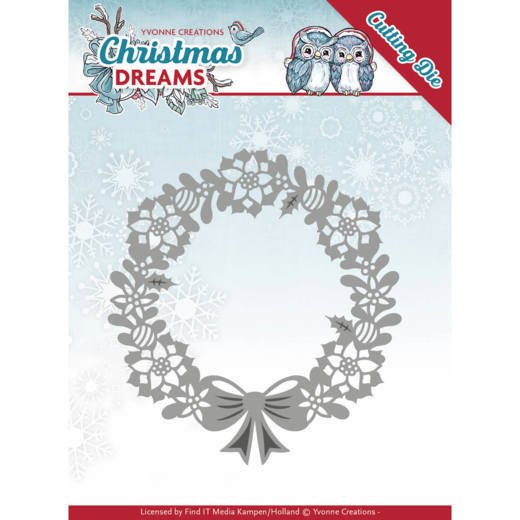 Yvonne Creations - Dies - Christmas Dreams - Poinsettia Wreath