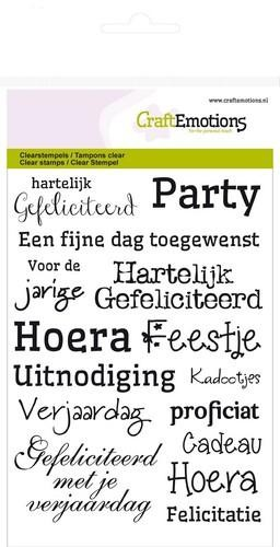 Craft Emotions - clearstamps - Gefeliciteerd NL