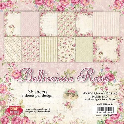 Craft and You - Bellissima Rosa - small paper pad