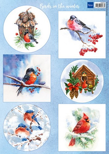 Marianne Design - Knipvel - Birds in the snow