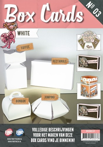 Boek Box cards 3 - White