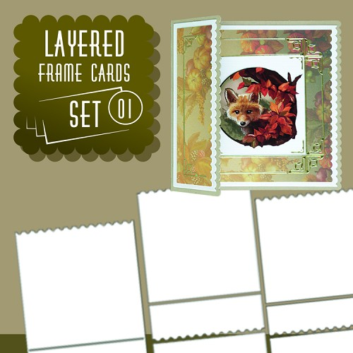 Layered Frame Cards set 01