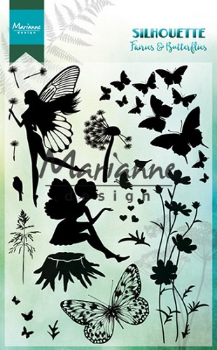 Marianne Design - Clear stamp - Silhouette fairies and butterflies