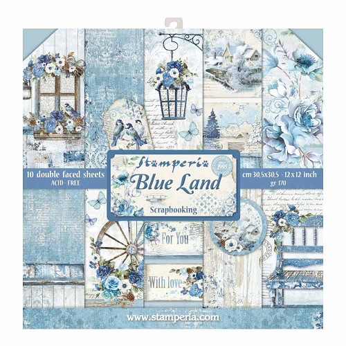 Stamperia - Blue Land - 12x12 inch - Paperpack