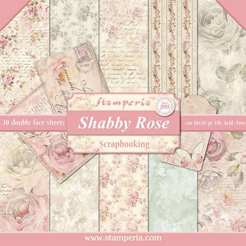 Stamperia - Shabby Rose - 12x12 inch - Paperpack