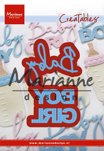 Marianne Design - Creatables - Baby text boy and girl