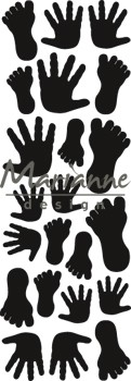 Marianne Design - Craftables - Punch die - Hands and Feets
