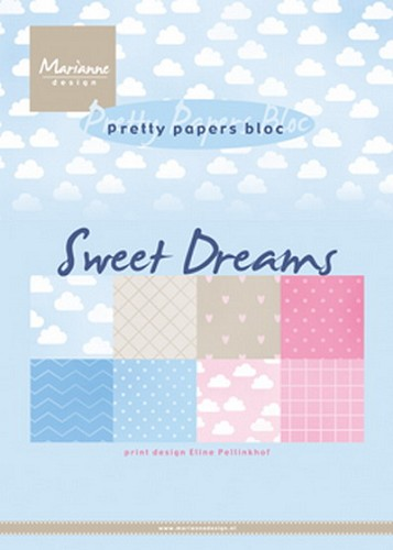 Marianne Design - Pretty papers bloc - Eline´s sweet dreams