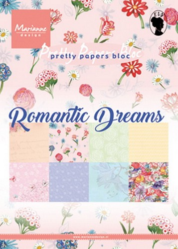 Marianne Design - Pretty papers bloc - Romantic dreams