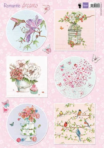 Marianne Design - Knipvel - Romantic dreams - Pink