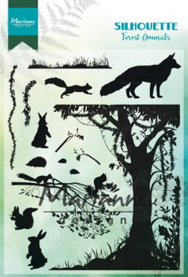 Marianne Design - Clear stamp - Silhouette - Forest animals