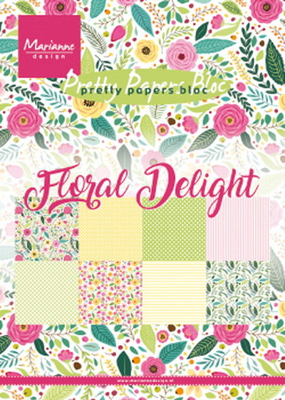 Marianne Design - Pretty Papers bloc - Floral Delight