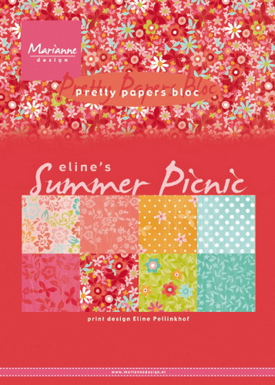 Marianne Design - Pretty papers bloc - Eline´s summer picnic